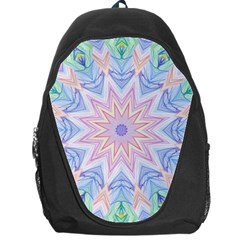 Soft Rainbow Star Mandala Backpack Bag