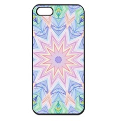 Soft Rainbow Star Mandala Apple Iphone 5 Seamless Case (black)