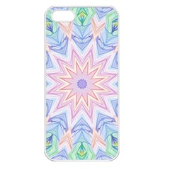 Soft Rainbow Star Mandala Apple Iphone 5 Seamless Case (white)