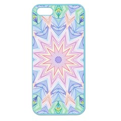 Soft Rainbow Star Mandala Apple Seamless iPhone 5 Case (Color)