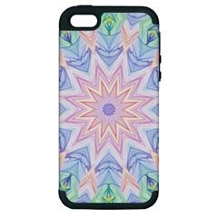 Soft Rainbow Star Mandala Apple Iphone 5 Hardshell Case (pc+silicone)