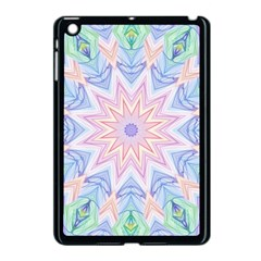 Soft Rainbow Star Mandala Apple iPad Mini Case (Black)