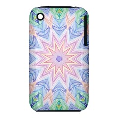 Soft Rainbow Star Mandala Apple iPhone 3G/3GS Hardshell Case (PC+Silicone)