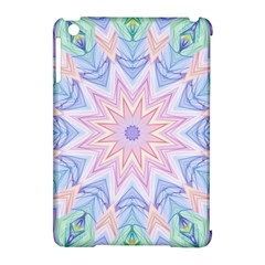 Soft Rainbow Star Mandala Apple iPad Mini Hardshell Case (Compatible with Smart Cover)