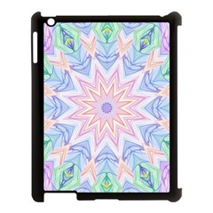 Soft Rainbow Star Mandala Apple Ipad 3/4 Case (black)