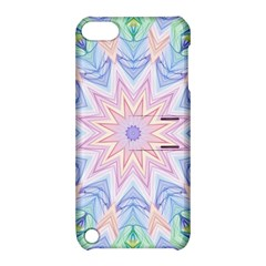 Soft Rainbow Star Mandala Apple iPod Touch 5 Hardshell Case with Stand