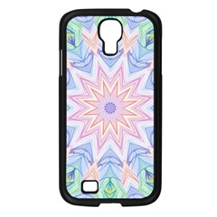 Soft Rainbow Star Mandala Samsung Galaxy S4 I9500/ I9505 Case (Black)