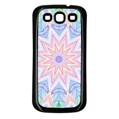 Soft Rainbow Star Mandala Samsung Galaxy S3 Back Case (Black)