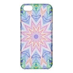 Soft Rainbow Star Mandala Apple Iphone 5c Hardshell Case