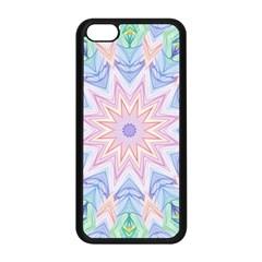 Soft Rainbow Star Mandala Apple iPhone 5C Seamless Case (Black)