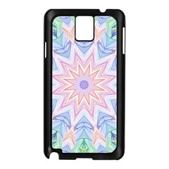 Soft Rainbow Star Mandala Samsung Galaxy Note 3 N9005 Case (black)