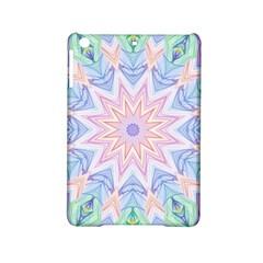 Soft Rainbow Star Mandala Apple iPad Mini 2 Hardshell Case