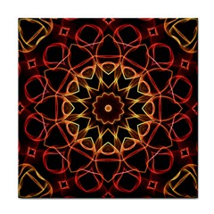 Yellow And Red Mandala Ceramic Tile