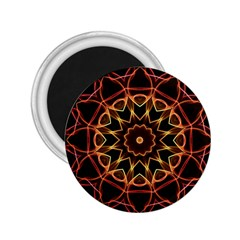 Yellow And Red Mandala 2.25  Button Magnet