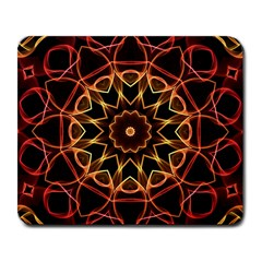 Yellow And Red Mandala Large Mouse Pad (Rectangle)