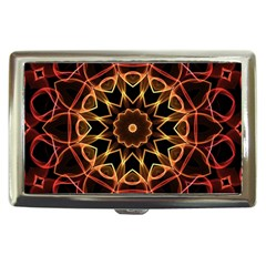 Yellow And Red Mandala Cigarette Money Case