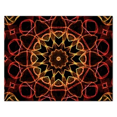 Yellow And Red Mandala Jigsaw Puzzle (Rectangle)
