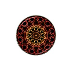 Yellow And Red Mandala Golf Ball Marker 4 Pack (for Hat Clip)