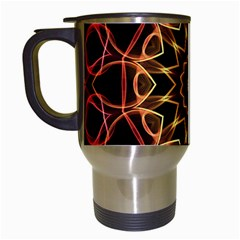 Yellow And Red Mandala Travel Mug (white)