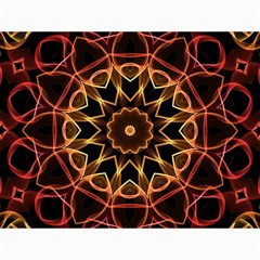 Yellow And Red Mandala Canvas 12  x 16  (Unframed)