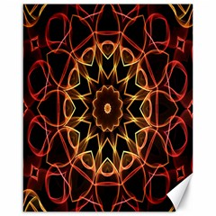 Yellow And Red Mandala Canvas 16  x 20  (Unframed)