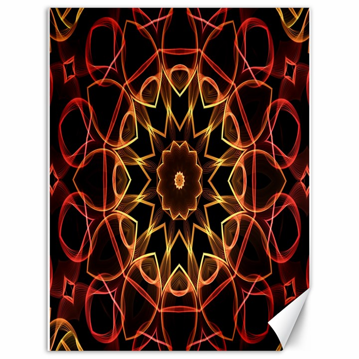 Yellow And Red Mandala Canvas 18  x 24  (Unframed)