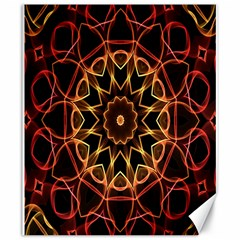 Yellow And Red Mandala Canvas 20  x 24  (Unframed)