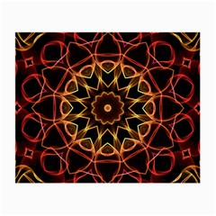 Yellow And Red Mandala Glasses Cloth (small, Two Sided)