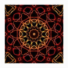 Yellow And Red Mandala Glasses Cloth (Medium, Two Sided)
