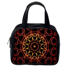 Yellow And Red Mandala Classic Handbag (One Side)