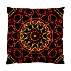 Yellow And Red Mandala Cushion Case (Single Sided)