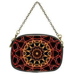 Yellow And Red Mandala Chain Purse (Two Sided)