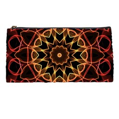 Yellow And Red Mandala Pencil Case