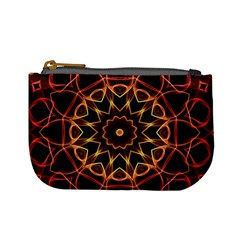 Yellow And Red Mandala Coin Change Purse
