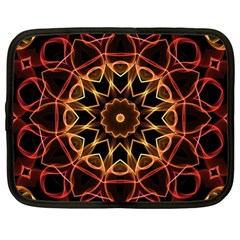 Yellow And Red Mandala Netbook Sleeve (xl)