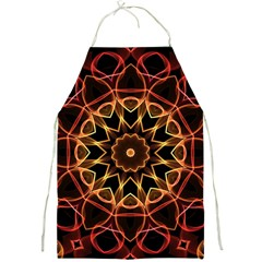 Yellow And Red Mandala Apron