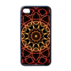 Yellow And Red Mandala Apple Iphone 4 Case (black)