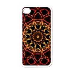 Yellow And Red Mandala Apple Iphone 4 Case (white)