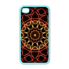 Yellow And Red Mandala Apple Iphone 4 Case (color)