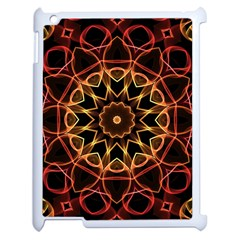 Yellow And Red Mandala Apple iPad 2 Case (White)