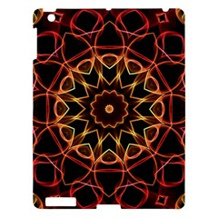 Yellow And Red Mandala Apple iPad 3/4 Hardshell Case