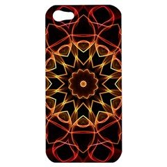 Yellow And Red Mandala Apple iPhone 5 Hardshell Case