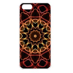Yellow And Red Mandala Apple Iphone 5 Seamless Case (white)