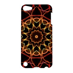 Yellow And Red Mandala Apple Ipod Touch 5 Hardshell Case