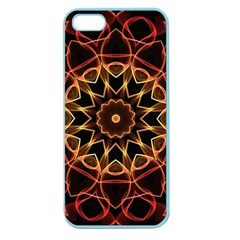 Yellow And Red Mandala Apple Seamless Iphone 5 Case (color)