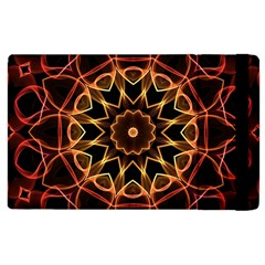 Yellow And Red Mandala Apple iPad 2 Flip Case