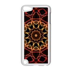 Yellow And Red Mandala Apple iPod Touch 5 Case (White)