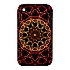Yellow And Red Mandala Apple iPhone 3G/3GS Hardshell Case (PC+Silicone)