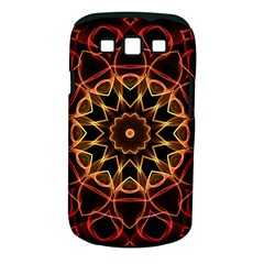Yellow And Red Mandala Samsung Galaxy S Iii Classic Hardshell Case (pc+silicone)