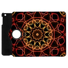 Yellow And Red Mandala Apple iPad Mini Flip 360 Case